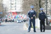 Policemen on May Day demonstration — ストック写真