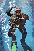 Diver pool — Stock Photo