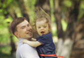 Dad with daughter — Stock Photo