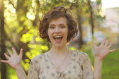 Happy smiling girl — Stock Photo