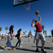 Ordinary playing basketball — Stock Photo
