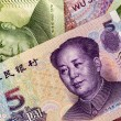Set of chinese currency — Stock Photo