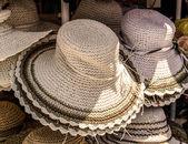 Słomkowe kapelusze — Zdjęcie stockowe