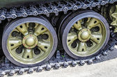 Military panzer track — Stock Photo