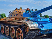 Militaire panzer track — Stockfoto