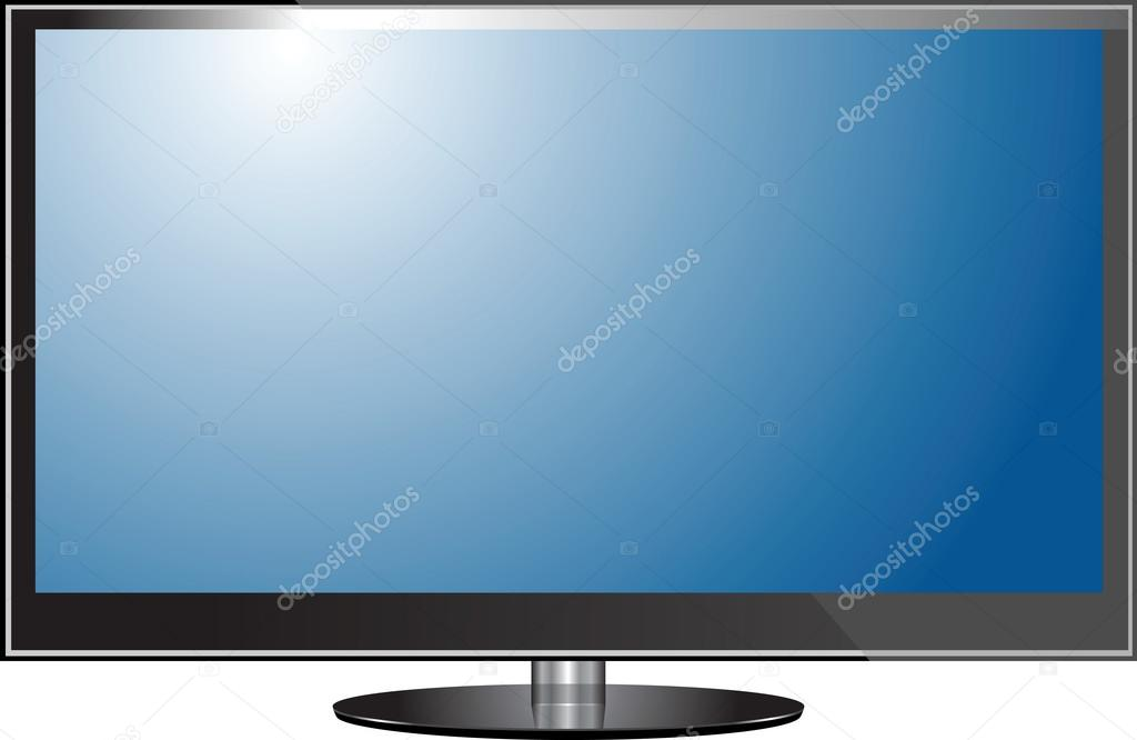 平板电视屏幕液晶, 等离子现实矢量图