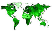 Mapa świata — Zdjęcie stockowe