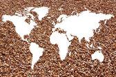 World map white background — Stock Photo