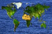 Mappa del mondo — Foto Stock