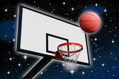 Um painel de basquete — Foto Stock