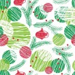 Seamless christmas tree pattern on white — Stockvektor