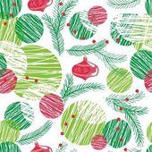 Seamless christmas tree pattern on white — Stock Vector