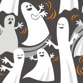 Funny ghosts — Stock Vector
