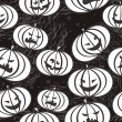 Monochrome scary pumpkins — Vector de stock