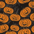 Scary pumpkins — Vector de stock