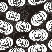 Monochromatyczne przerażające dynie — Wektor stockowy