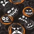 Stock Vector: Scary faces