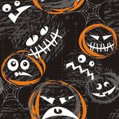 Caras de miedo — Vector de stock