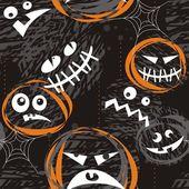 Strašidelné obličeje — Stock vektor
