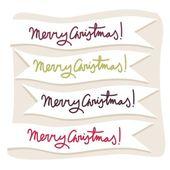 Etichette di testo merry christmas — Vettoriale Stock