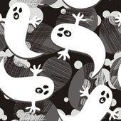 Scared ghosts — Stock Vector