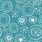 Messy snowflakes on turquoise — Stock Vector