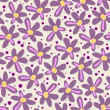 Purple flowers with dots — Stock Vector