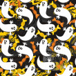 Royalty-Free Stock : Ghosts and sweets on messy dark halloween background