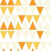 Retro yellow triangles seamless pattern — Stock Vector