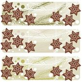 Christmas star shaped gingerbreads banner — Stock Vector