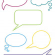 Colorful border speech bubbles - Stock Vector