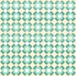 Retro circles and dots in rows turquoise beige white seamless background - Stock Vector