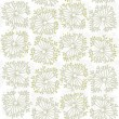 Stock Vector: Dandelion style delicate natural seamless pattern on white background