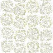Modello naturale delicato stile tarassaco senza soluzione di continuità su sfondo bianco — Vettoriale Stock