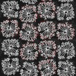 Royalty-Free Stock Immagine Vettoriale: Delicate floral black gray red retro pattern on dark background
