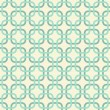 Round corner squares in turquoise and beige geometric seamless pattern — Stock Vector
