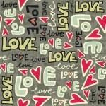 Love retro colors graffiti seamless pattern on dark — Stock Vector #15773633