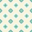 Turquoise clover elements on light beige retro seamless pattern — Stock Vector #16895639
