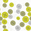 Royalty-Free Stock Vector Image: Green gray button mess on white dotted background seamless pattern