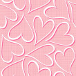 Pink hearts seamless pattern valentines background — Stock Vector
