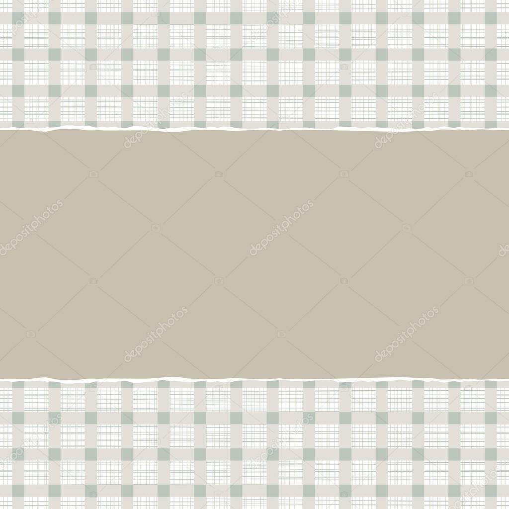 Checkered Scrapbook Paper Torn Paper on Scrapbook