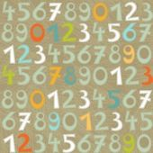 Colorful numbers on dark background education seamless pattern — Stock Vector