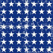 Little white stars in regular horizontal and vertical rows on dark blue background grunge seamless pattern — Stock Vector