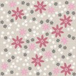 White pink gray blue dotted flowers on light background romantic floral seamless pattern — Stock Vector #27887401