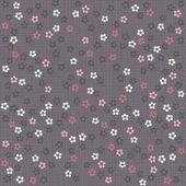 White pink gray blue little dotted flowers on light background romantic floral seamless pattern — Stock Vector