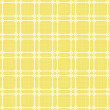 Stock Vector: Retro white squares in rows on sunny yellow background abstract geometric seamless pattern