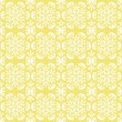 Stock Vector: Retro white flowers in rows on sunny yellow background abstract geometric seamless pattern