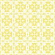 Stock Vector: Retro white star shaped elements in rows on sunny yellow background abstract geometric seamless pattern