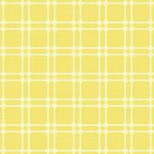 Retro white squares in rows on sunny yellow background abstract geometric seamless pattern — Stock Vector