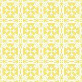 复古白色星状上阳光明媚黄色背景抽象几何无缝模式的行中的元素 — 图库矢量图片